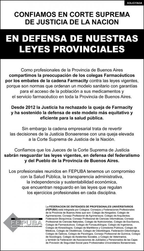 Publicar Solicitada en Clarín