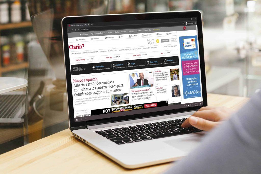 publicidad digital en clarin